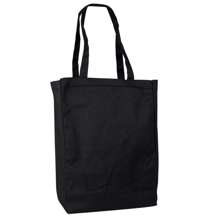Black Cotton Canvas Tote