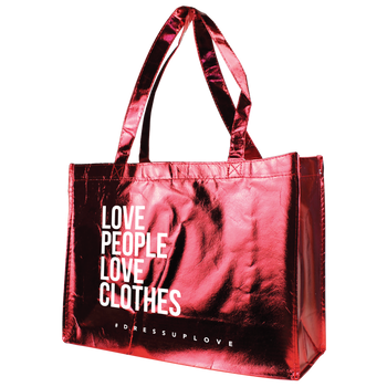 Metallic Convention Tote