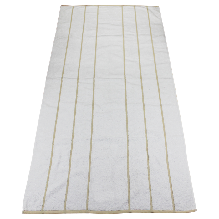 Beige Bali Striped Beach Towel