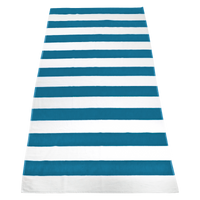 Turquoise Santa Maria Striped Beach Towel Thumb