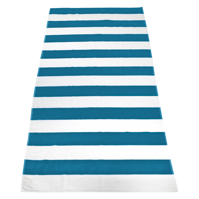 Turquoise Santa Maria Striped Beach Towel
