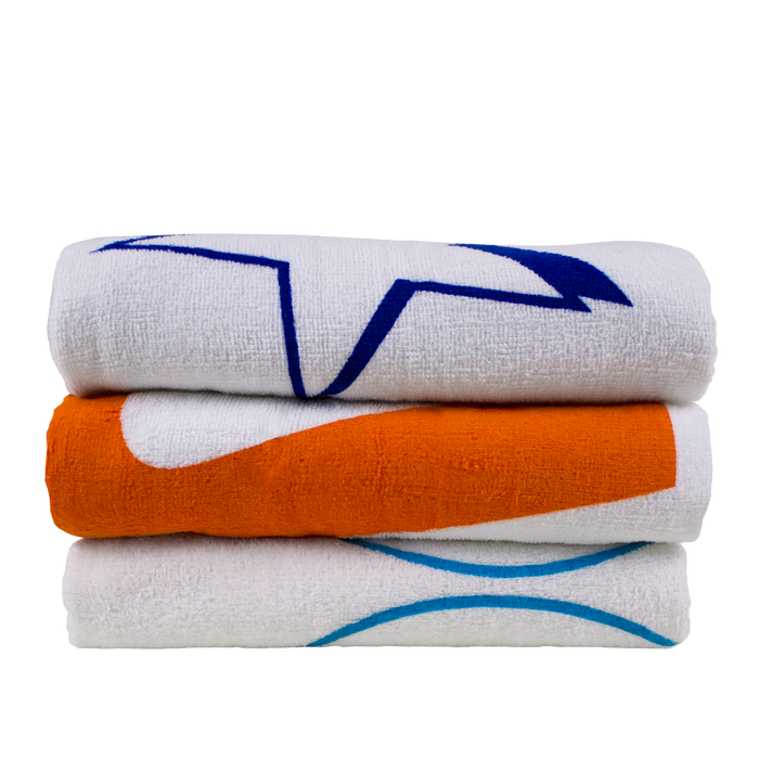 Value Line White Beach Towel