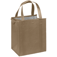 Light Khaki Large Insulated Cooler Tote Thumb