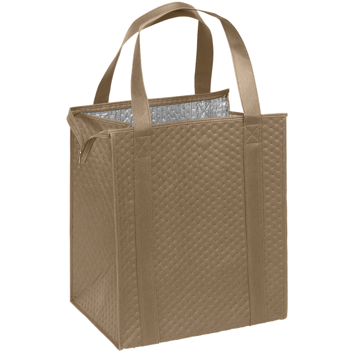 Light Khaki Large Insulated Cooler Tote