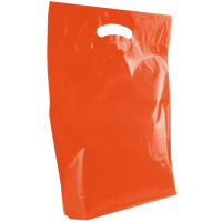 Orange Medium Die Cut Plastic Bag Thumb