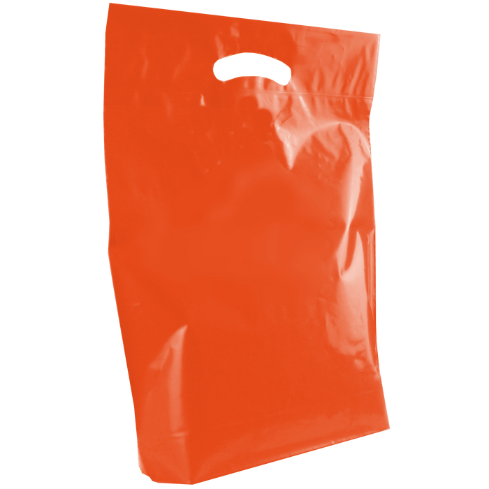 Orange Medium Die Cut Plastic Bag