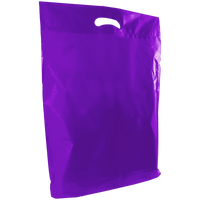 Purple Large Die Cut Plastic Bag Thumb