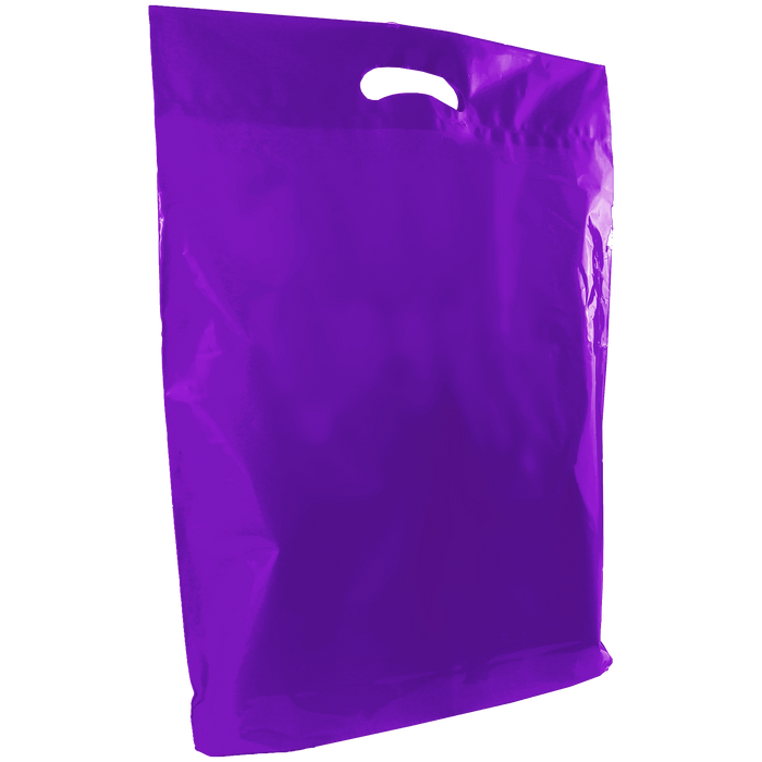Purple Large Die Cut Plastic Bag