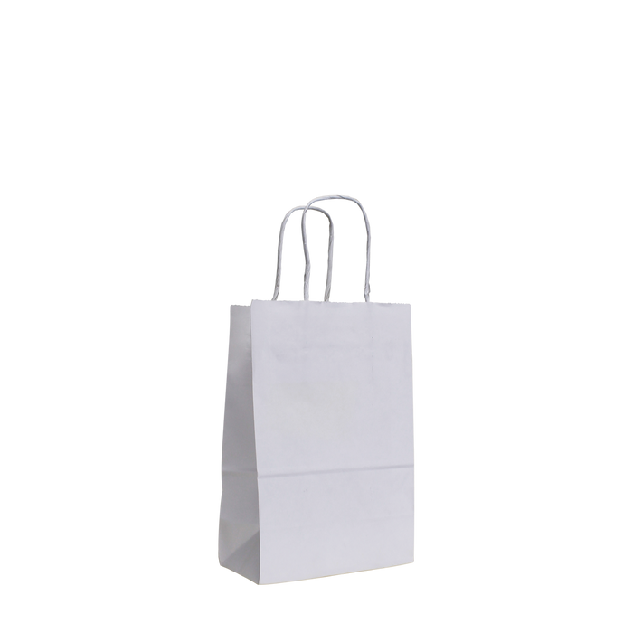 White Mini White Paper Shopper Bag