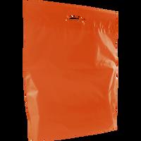 Orange Large Eco-Friendly Die Cut Plastic Bag Thumb