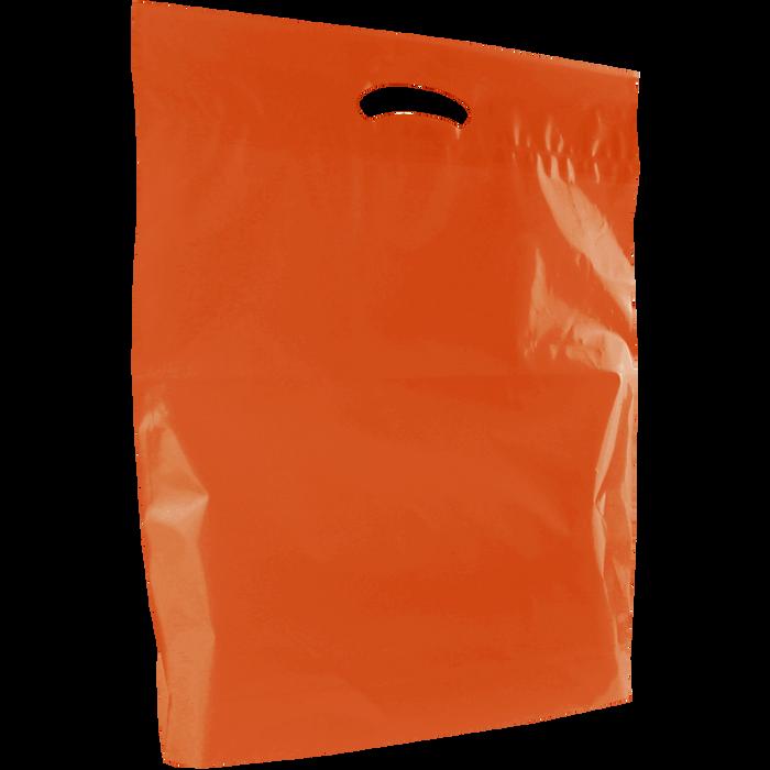 Orange Large Eco-Friendly Die Cut Plastic Bag