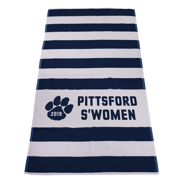 striped beach towels,  imprinted beach towels,
