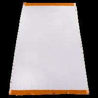 Orange Heavyweight Colored Edge Beach Towel Thumb