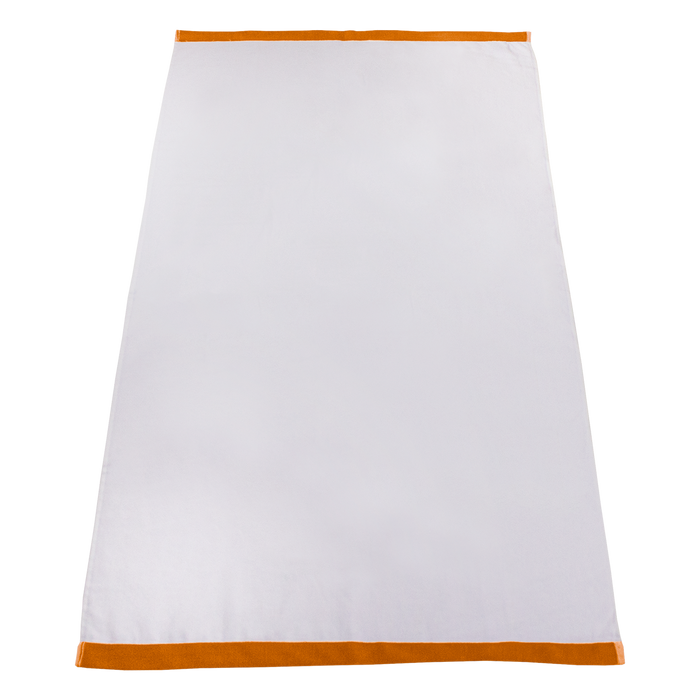 Orange Heavyweight Colored Edge Beach Towel