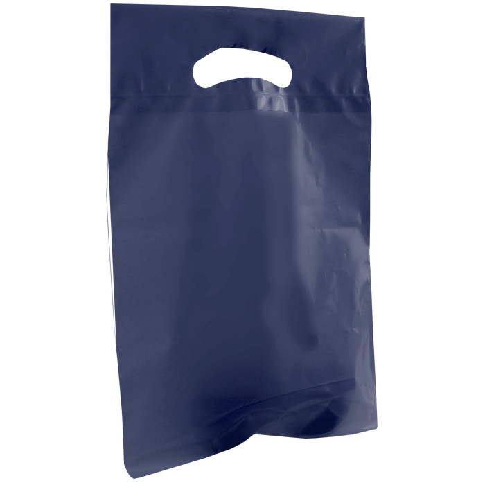 Navy Blue Small Recyclable Die Cut Plastic Bag