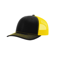 Black/Yellow Richardson Trucker Snapback Hat Thumb