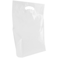 White Medium Die Cut Plastic Bag Thumb