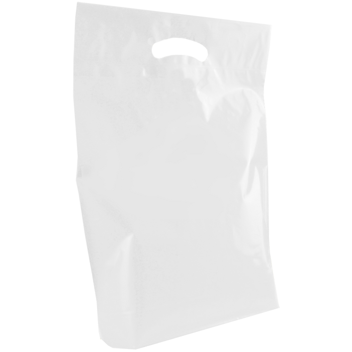 White Medium Die Cut Plastic Bag