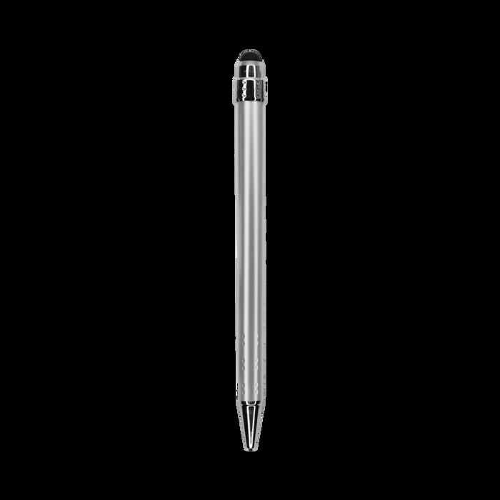 Metallic Silver with Blue Ink Chrome Stylus Pen