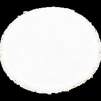 White Fringed White Round Beach Towel Thumb