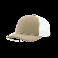 Khaki/White Richardson Trucker Snapback Hat Thumb