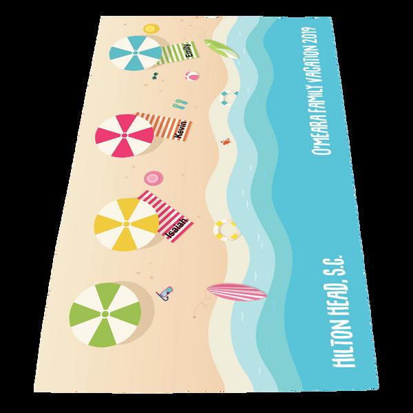 full color print beach towels,