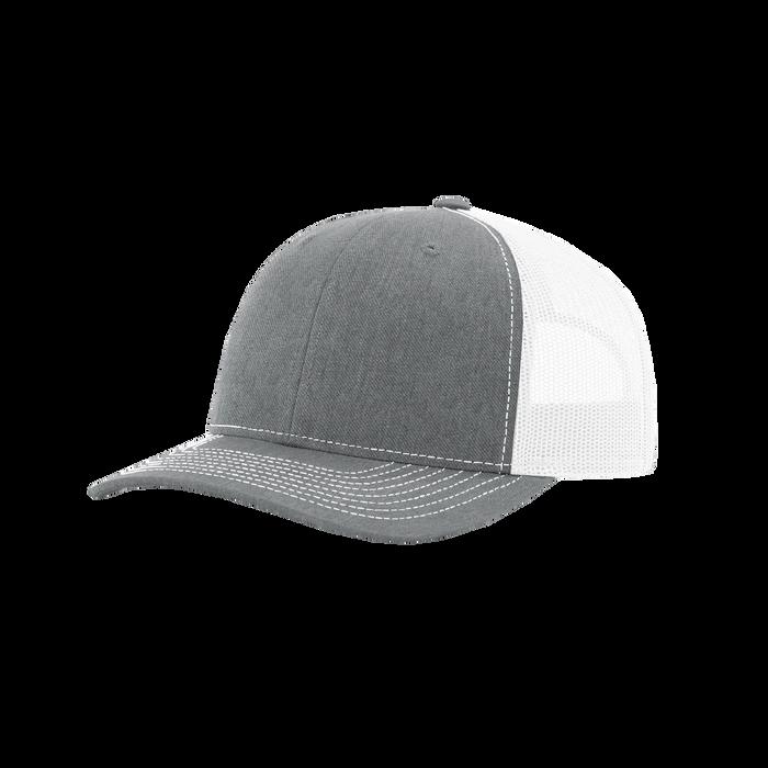 Heather Grey/White Richardson Trucker Snapback Hat