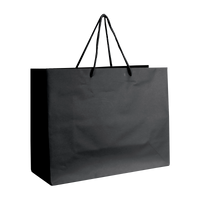 Black Medium Matte Shopper Bag Thumb