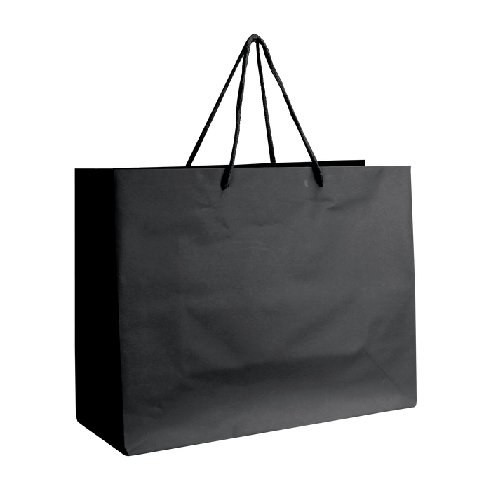 Black Medium Matte Shopper Bag