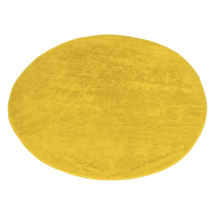 Yellow Classic Color Round Beach Towel