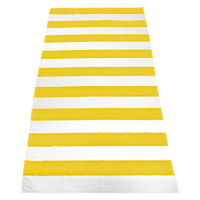 Yellow Santa Maria Striped Beach Towel