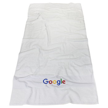 High Tide White Beach Towel