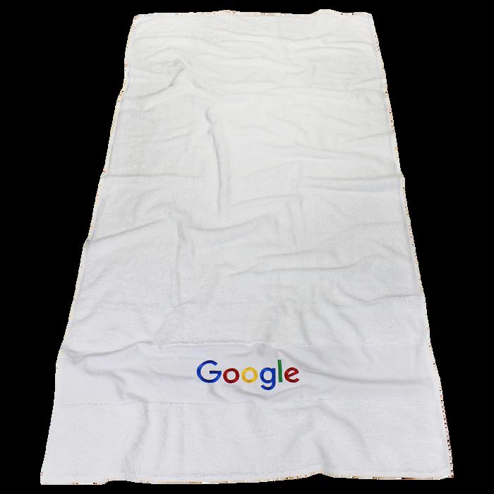High Tide White Beach Towel
