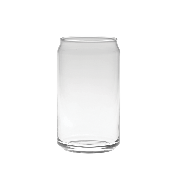 Clear Beer Can Glass