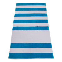 Turquoise Horizon Striped Beach Towel Thumb