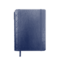 Navy Blue Quilted Faux Leather Journal with Pen Thumb