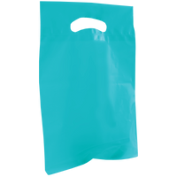 Teal Small Recyclable Die Cut Plastic Bag Thumb
