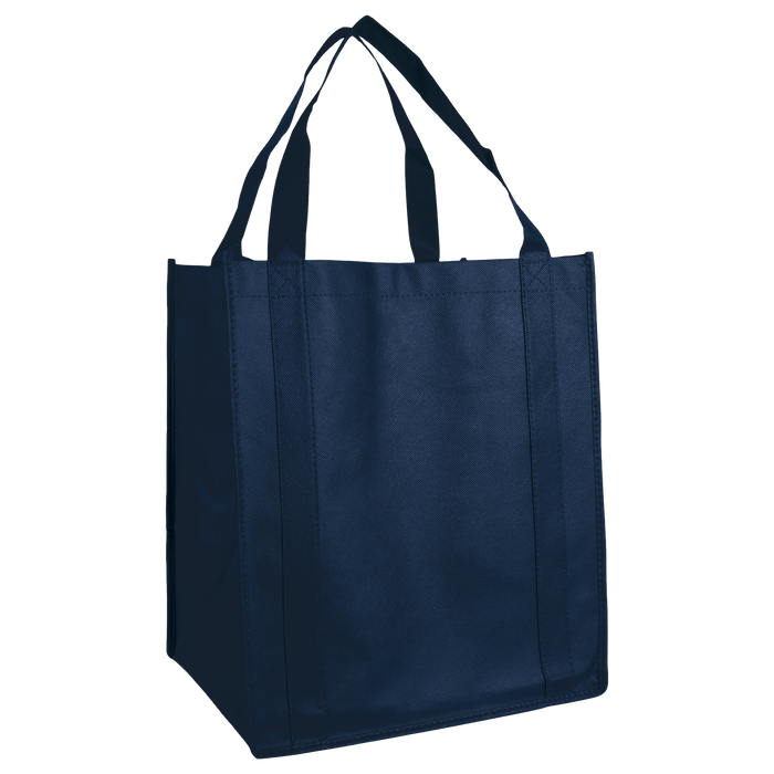 Navy Blue Wine & Dine Reusable Tote Bag