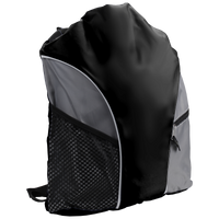 Black Lightweight Drawstring Backpack Thumb