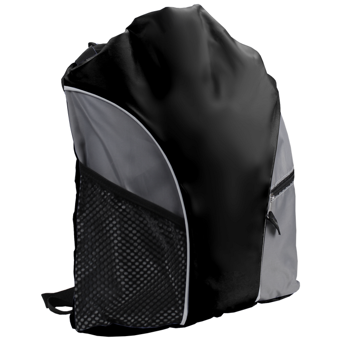 Black Lightweight Drawstring Backpack