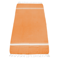 Orange Laguna Fringe Beach Towel Thumb