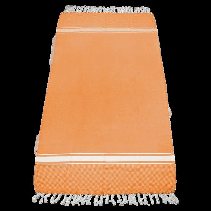 Orange Laguna Fringe Beach Towel