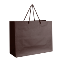 Chocolate Medium Matte Shopper Bag Thumb