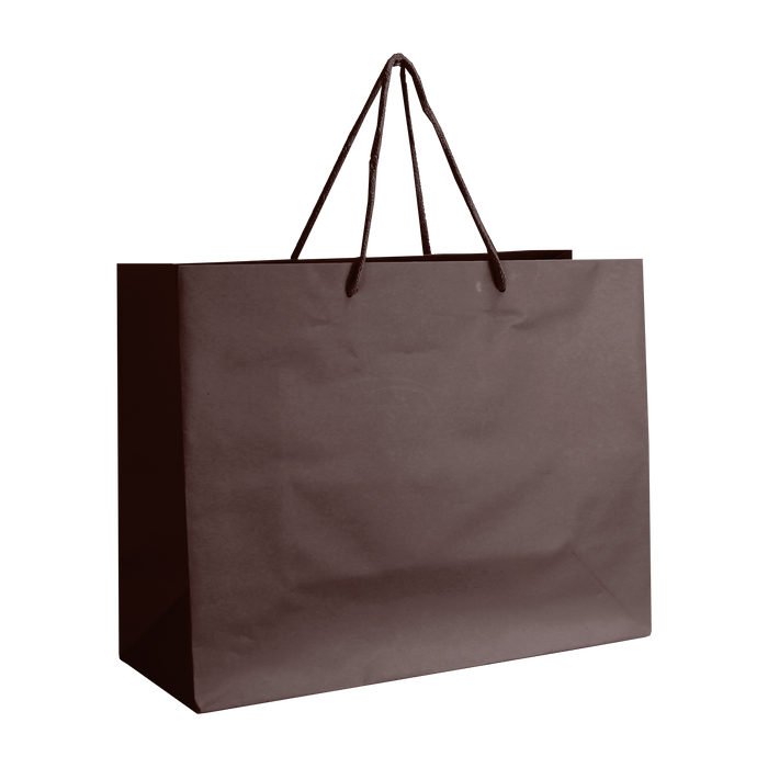 Chocolate Medium Matte Shopper Bag