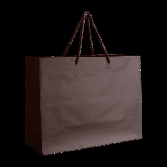 Chocolate Medium Matte Shopper Bag