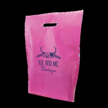 Medium Frosted Die Cut Bag