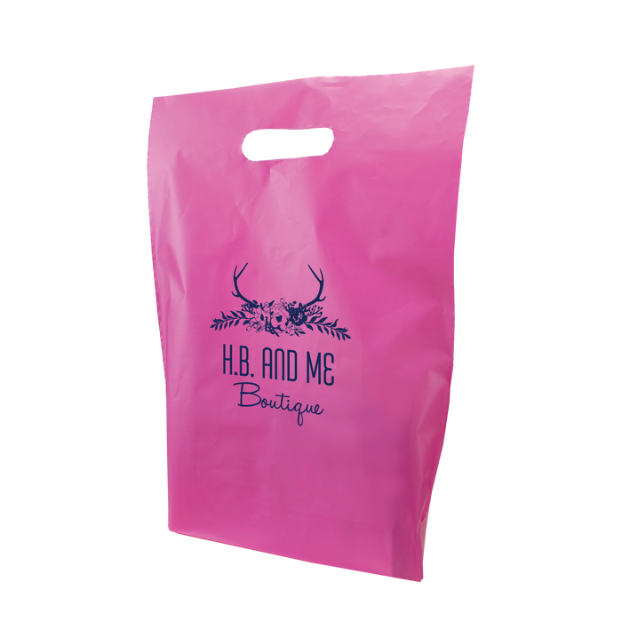 Medium Frosted Die Cut Bag
