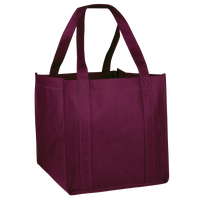 Burgundy Cube Grocery Tote Thumb