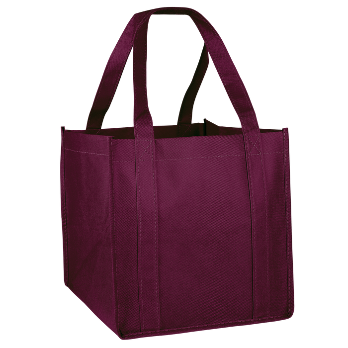 Burgundy Cube Grocery Tote