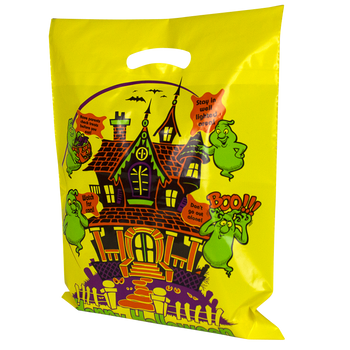 Yellow Haunted House Bag